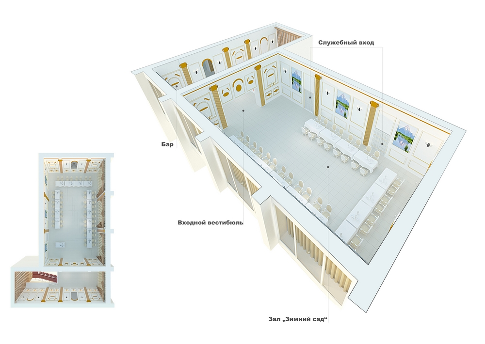 Схема банкетного зала